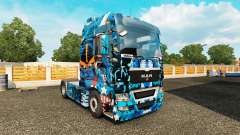 Skin Marvel Heroes on the truck MAN for Euro Truck Simulator 2