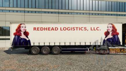 Skins Redhead Logistics on the trailer for Euro Truck Simulator 2