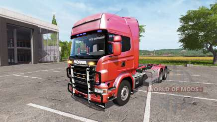Scania R730 hooklift v1.0.0.1 for Farming Simulator 2017
