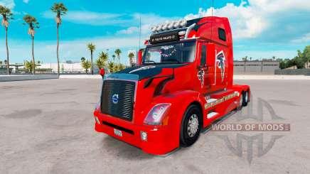 Skin Atalanta Falcons on tractor Volvo VNL 670 for American Truck Simulator