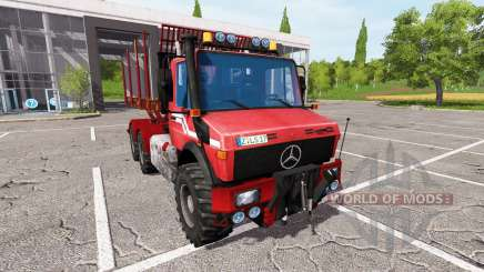 Mercedes-Benz Unimog wood for Farming Simulator 2017