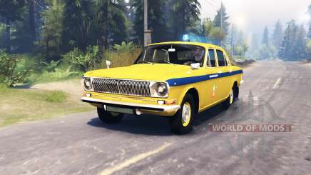 GAZ-24 Volga Police for Spin Tires