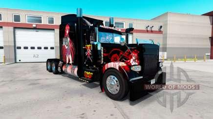 Скин High School DxD Anime на Peterbilt 389 for American Truck Simulator
