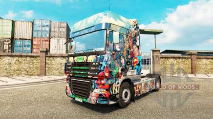 DC Comics skin for DAF truck for Euro Truck Simulator 2