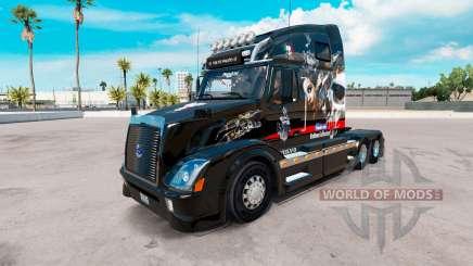 Skin Big Mama Tattoo on tractor Volvo VNL 670 for American Truck Simulator
