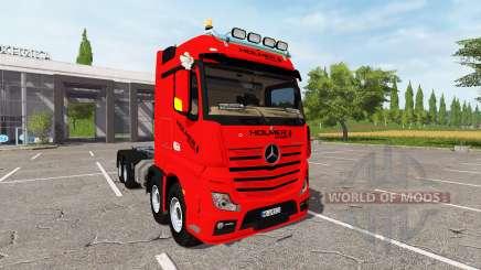 Mercedes-Benz Actros (MP4) 8x8 v1.2 for Farming Simulator 2017