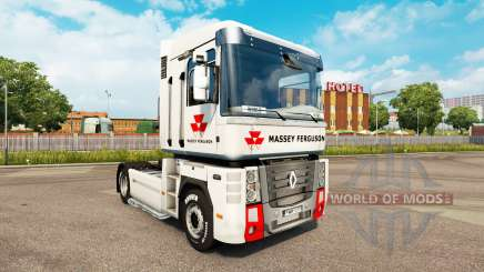 Massey Ferguson skin for Renault Magnum tractor unit for Euro Truck Simulator 2