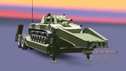 Semi carrying military equipment v1.6.1 for Euro Truck Simulator 2