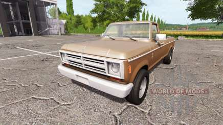 Lizard Pickup Rodeo 100 right hand drive for Farming Simulator 2017