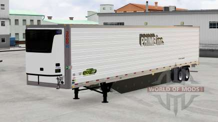 Refrigerated trailer, Prime Inc. for American Truck Simulator