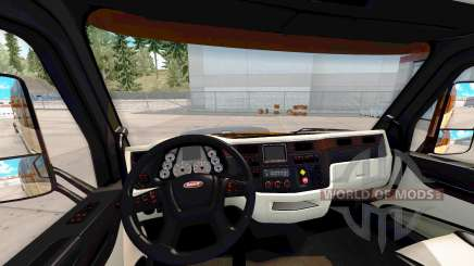 The Platinium interior for Peterbilt 579 for American Truck Simulator