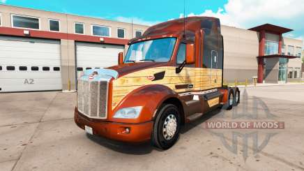 Vintage Wood skin for the truck Peterbilt 579 for American Truck Simulator