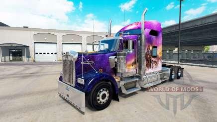 Skin Valerie on the truck Kenworth W900 for American Truck Simulator