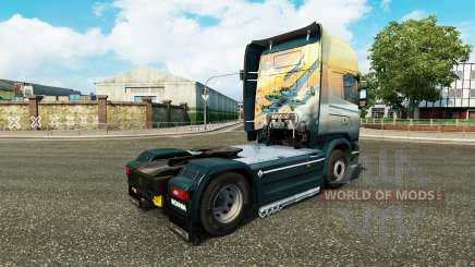 Skin Angels on Sky tractor Scania for Euro Truck Simulator 2