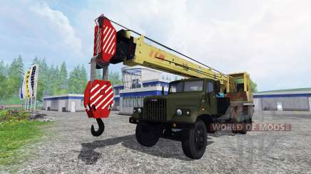 KrAZ 257 truck crane for Farming Simulator 2015
