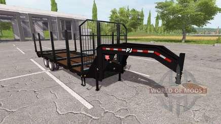 A flatbed hauling trailer for Farming Simulator 2017