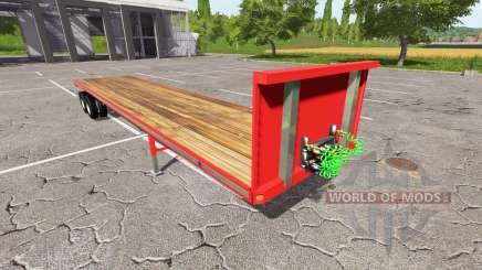 Semi-trailer-platform for Farming Simulator 2017