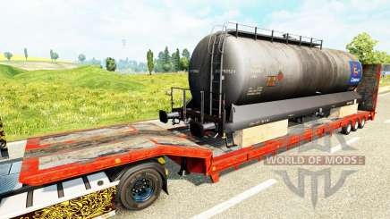 Semi-trailers with zeleznodoroznyj the line v1.6 for Euro Truck Simulator 2