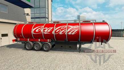 Skin Coca-Cola on the trailer for Euro Truck Simulator 2