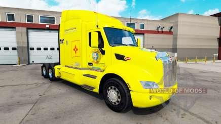 Skin Los Pollos Hermanos truck on a Peterbilt 579 for American Truck Simulator