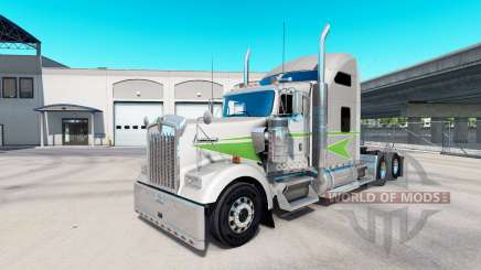 Skin Movin on tractor truck Kenworth W900 for American Truck Simulator