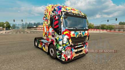 Skin Marvel Universe on the truck Iveco for Euro Truck Simulator 2