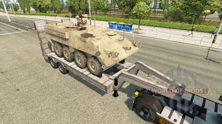 Semi carrying military equipment v1.6 for Euro Truck Simulator 2