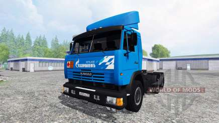 KamAZ-54115 Gazprom Neft v2.0 for Farming Simulator 2015