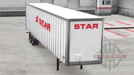 Skin Star Transport Inc. on the trailer for American Truck Simulator