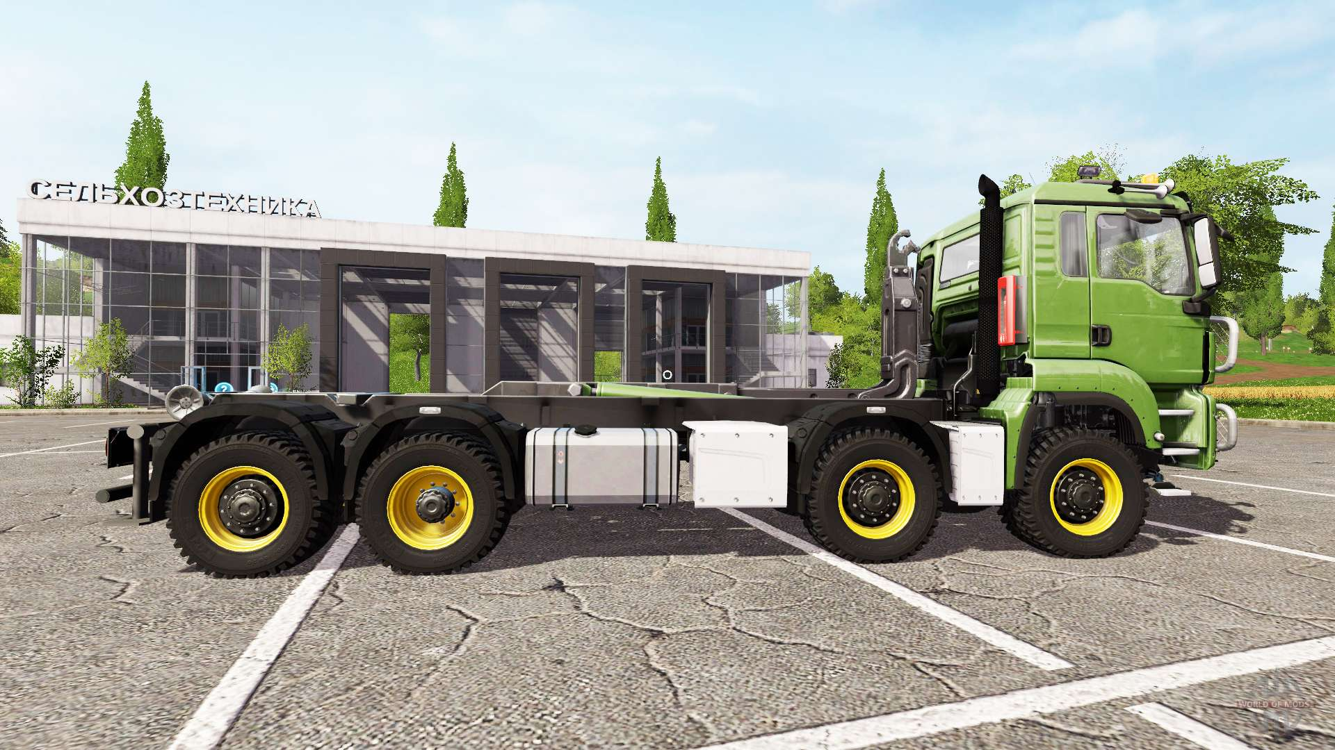 MAN TGS 8x8 hooklift for Farming Simulator 2017