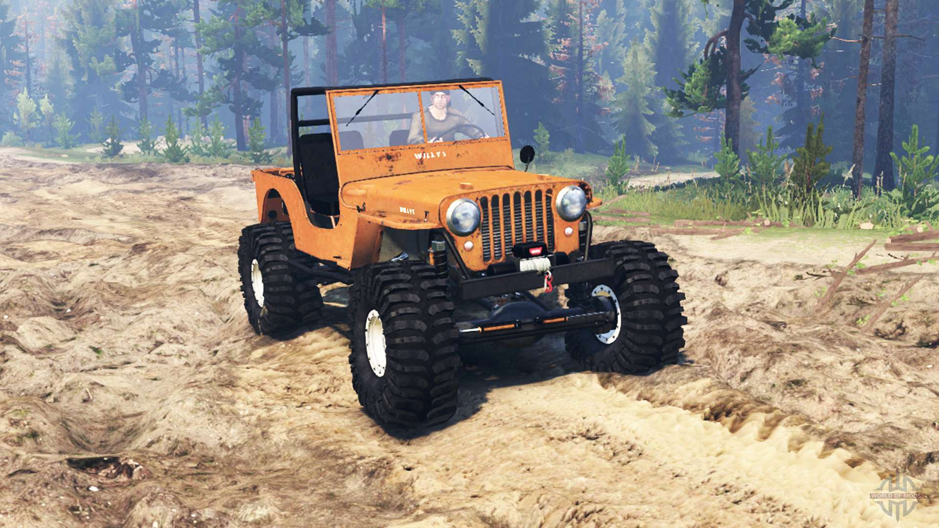 jeep willys m38 cj2a crawler for spin tires. Black Bedroom Furniture Sets. Home Design Ideas