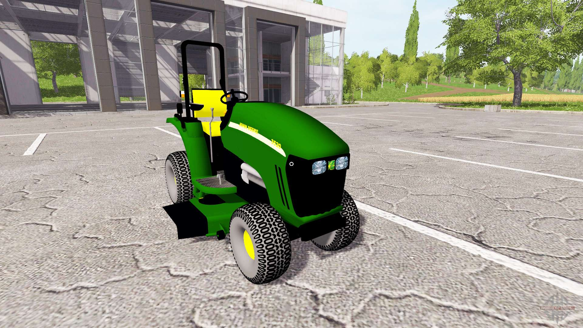 John Deere 318 >> John Deere 3520 mower for Farming Simulator 2017
