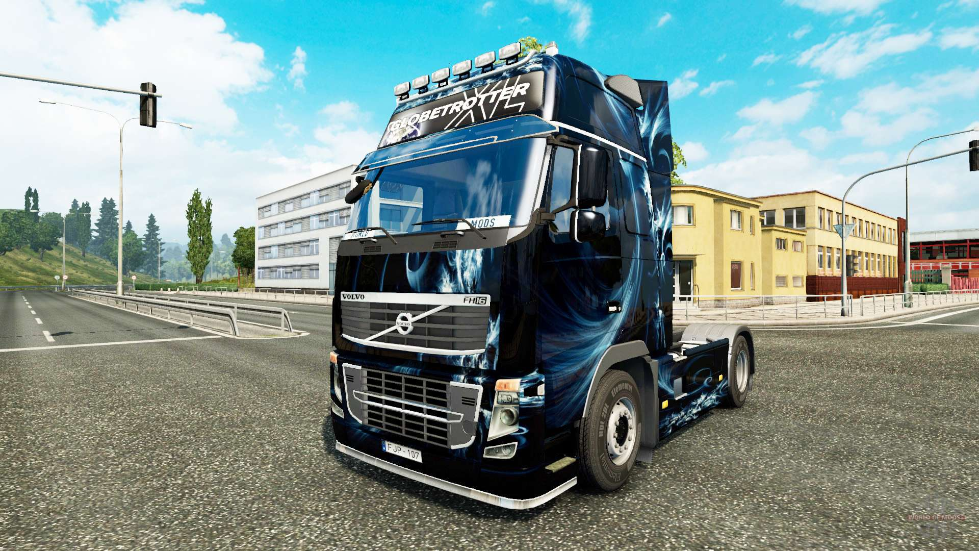 Abstract Effect skin for Volvo truck for Euro Truck ...
