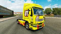 Racing Yellow skin for Renault Premium truck