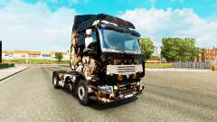 Skin Horror Night on a tractor unit Renault Prem