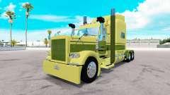 Skin Large car Cartage on the truck Peterbilt 38