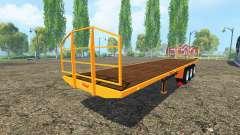 Semi-trailer-Fliegl platform for Farming Simulator 2015