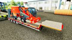 Low sweep with a cargo of agricultural machinery
