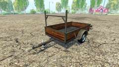 Single axle trailer v1.2 for Farming Simulator 2015