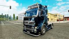 Abstract Effect skin for Volvo truck for Euro Truck Simulator 2