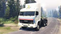 KamAZ 54115 for Spin Tires