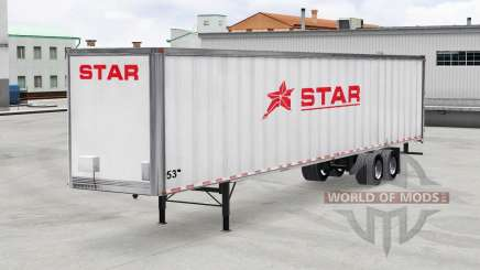 Skin Star Transport Inc. on the trailer for American Truck Simulator