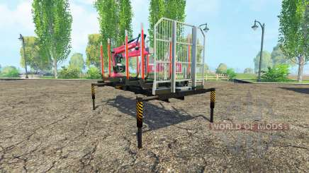 A timber platform with manipulator v1.3 for Farming Simulator 2015
