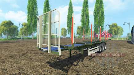 Logging semi-trailer Fliegl for Farming Simulator 2015