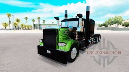 The Flame skin for the truck Peterbilt 389 for American Truck Simulator