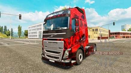 Demon Skull skin for Volvo truck for Euro Truck Simulator 2