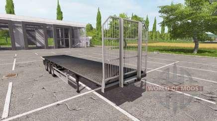 Semi-trailer-Fliegl platform for Farming Simulator 2017