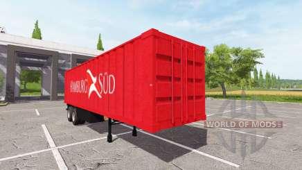 The semitrailer-container truck for Farming Simulator 2017