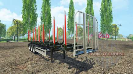 The timber Fliegl semi trailer v1.5 for Farming Simulator 2015