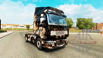 Skin Horror Night on a tractor unit Renault Premium for Euro Truck Simulator 2
